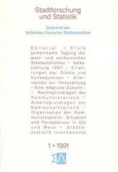 Stadtforschung und Statistik - Ausgabe 1/1991