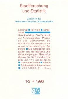 Stadtforschung und Statistik - Ausgabe 1/2 1996