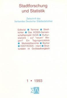 Stadtforschung und Statistik - Ausgabe 1/1993