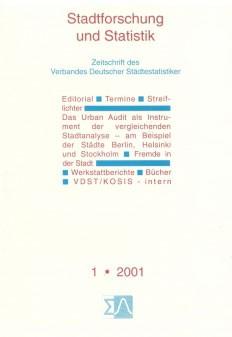 Stadtforschung und Statistik - Ausgabe 1/2001