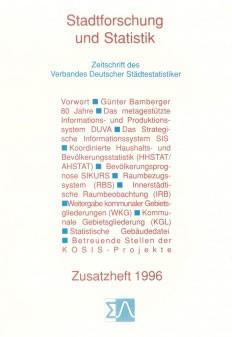 Stadtforschung und Statistik - Zusatzheft 1996