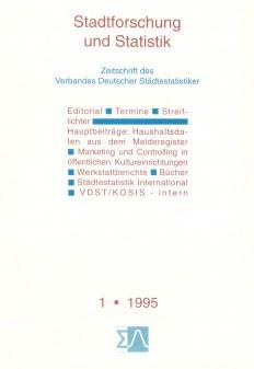 Stadtforschung und Statistik - Ausgabe 1/1995