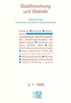 Stadtforschung und Statistik - Ausgabe 2/1995