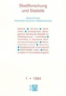 Stadtforschung und Statistik - Ausgabe 1/1994