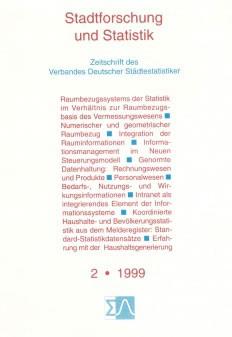 Stadtforschung und Statistik - Ausgabe 2/1999