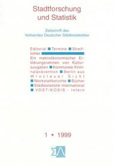 Stadtforschung und Statistik - Ausgabe 1/1999