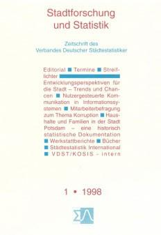 Stadtforschung und Statistik - Ausgabe 1/1998