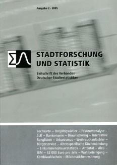 Stadtforschung und Statistik – Ausgabe 2/2005