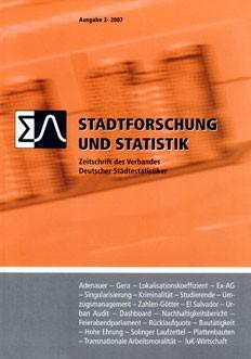 Stadtforschung und Statistik - Ausgabe 2/2007