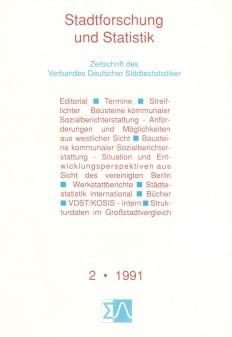 Stadtforschung und Statistik - Ausgabe 2/1991