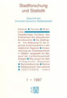 Stadtforschung und Statistik - Ausgabe 1/1997