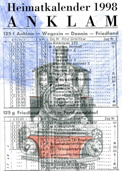 Heimatkalender Anklam 1998