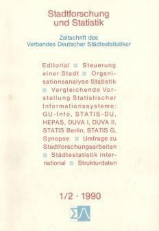 Stadtforschung und Statistik - Ausgabe 1/2 1990