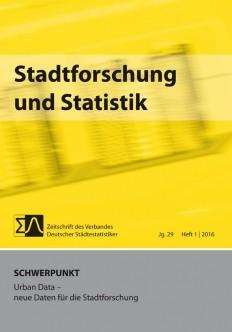 Stadtforschung + Statistik - Ausgabe 1/2016