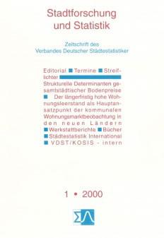 Stadtforschung und Statistik - Ausgabe 1/2000