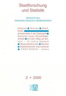 Stadtforschung und Statistik - Ausgabe 2/2000