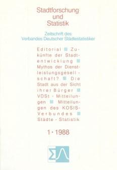 Stadtforschung und Statistik - Ausgabe 1/1988