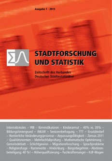 Stadtforschung + Statistik - Ausgabe 1/2013