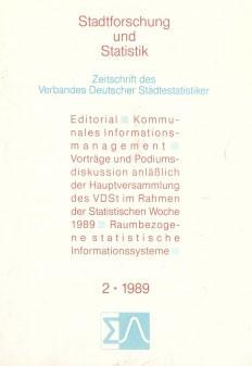 Stadtforschung und Statistik - Ausgabe 2/1989