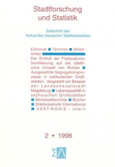 Stadtforschung und Statistik - Ausgabe 2/1998